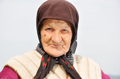 Very old woman with expression Stock Image