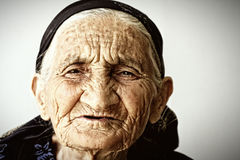 Very old woman face royalty free stock photos