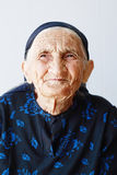 Very old woman portrait stock photos