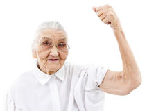 Grandma does not gives up Stock Image