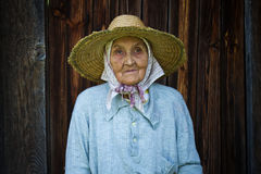 Very old woman from the village Royalty Free Stock Photography
