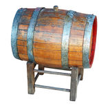 Very old wooden barrel. Stock Image