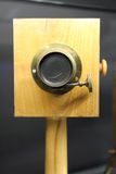 Very old wooden camera Stock Photo