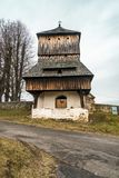 Church in Tyrawa Solna. This is a very old wooden church in Tyrawa Solna royalty free stock image
