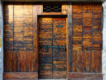 Very old wooden door Stock Image