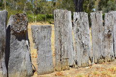 Very old wooden fence. Royalty Free Stock Photo