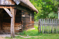 Very old wooden house stock image