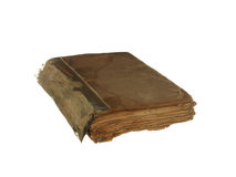 Very old and worn book isolated on white background. Royalty Free Stock Photos