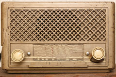 Vintage worn radio Royalty Free Stock Photography