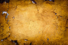 Very old yellow wall with cracks. Suitable for background Royalty Free Stock Images