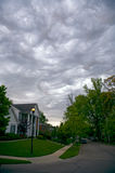 Very Ominious Clouds and House Stock Images