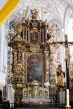 Very ornate altar in a church or cathedral Royalty Free Stock Photo