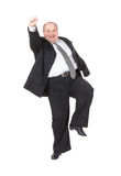 Very overweight cheerful businessman Stock Photo