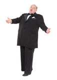 Very overweight cheerful businessman Royalty Free Stock Photos