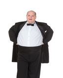 Very overweight cheerful businessman Royalty Free Stock Images