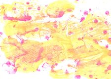 Very pale yellow abstract watercolor background. Hand-drawn abstract yellow watercolor royalty free stock photo