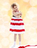 Very passionate little girl Royalty Free Stock Images