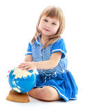 Very passionate little girl Stock Images