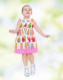 Very passionate little girl Royalty Free Stock Image
