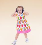Very passionate little girl Royalty Free Stock Photo