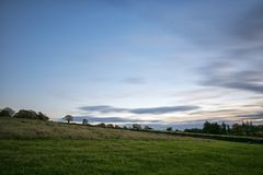 Very peaceful evening view. Beautiful blue sky. Lovely walk royalty free stock photos