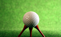 Very pegged golfball. Pegged golfball for those who need extra help royalty free stock photo
