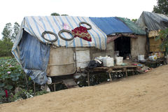 Very poor condition house in slum Royalty Free Stock Photos