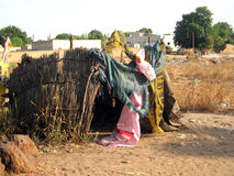 Very poor house in Senegal Stock Photography