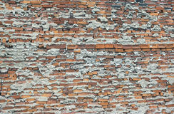 Very poorly done brick wall bad technique bad work. Brick and concrete, bad and old style rough and ugly exterior wall Stock Images