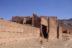 Very popular filmmakers reconstructing the kasbah Ait - Benhaddou, Morocco Stock Images