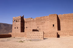 Very popular filmmakers reconstructing the kasbah Ait - Benhaddou, Morocco Royalty Free Stock Photo