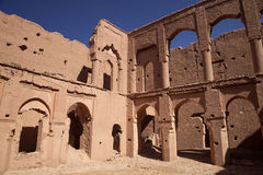 Very popular filmmakers reconstructing the kasbah Ait - Benhaddou, Morocco Royalty Free Stock Photography