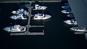 Very popular Marina coomera waters gold coast backing onto local pub and shopping center Royalty Free Stock Images