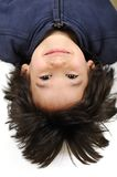 Very positive. And cute kid Royalty Free Stock Images