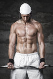 Very powerful sexy bodybuilder. Weightlifting Stock Images