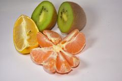 Beautiful colorful citrus close up royalty free stock images