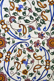 Very pretty colorful floral pattern painting on wall Stock Photo