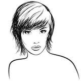 Very pretty girl with nice haircut Stock Photo