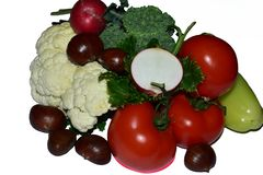 Nice multicolor vegetables close up royalty free stock image