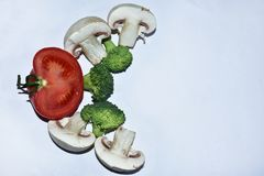 Nice multicolor vegetables close up stock photo