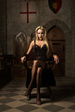 The very pretty woman vamp. Portrait of the very pretty woman vamp Royalty Free Stock Images