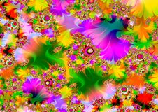 Very psychedelic. Illustrated abstract colourful psychedelic background Stock Photography
