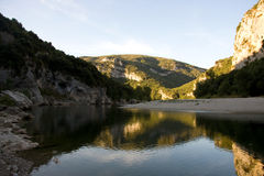 Very quiet place on the ardeche in France Stock Photos