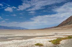 Very Rare Puddle in the Area of Badwater Pool Basin at the botto Royalty Free Stock Photos