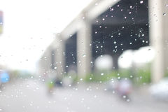 A very rare rainy day in Bangkok, Thailand Royalty Free Stock Photo