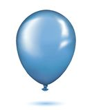 Realistic blue balloon Royalty Free Stock Photo