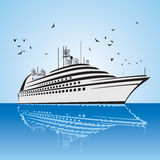 A very realistic view of Cruise Ship, similar to t Royalty Free Stock Images