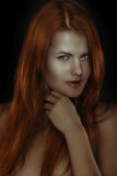 Very redhead girl Stock Images