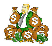 Very Rich Man royalty free illustration