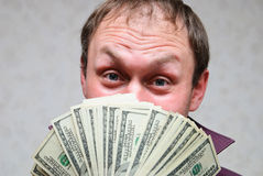 The very rich man smiles royalty free stock image